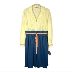 Vintage Vanity Fair colorblock nylon robe